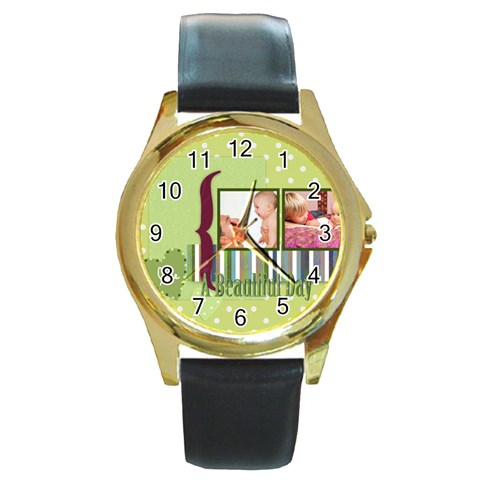 Kids By Joely   Round Gold Metal Watch   Orv8ck2xf3pp   Www Artscow Com Front