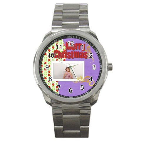 Merry Christmas By M Jan   Sport Metal Watch   Puetgsv61kis   Www Artscow Com Front
