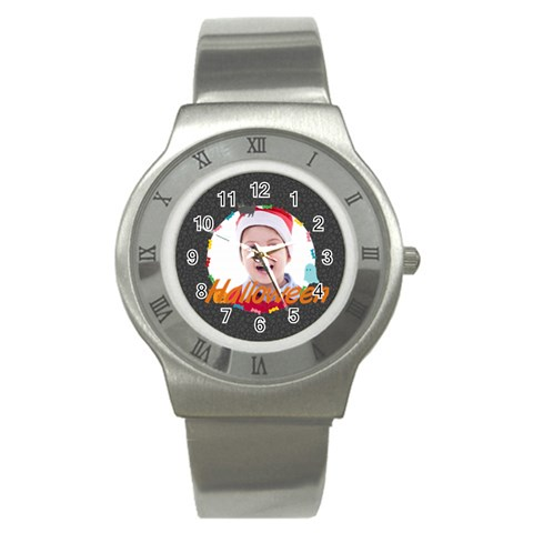 Halloween By May   Stainless Steel Watch   Neqcvj1zebb6   Www Artscow Com Front