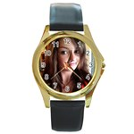 tony - Round Gold Metal Watch