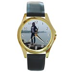 tony55 - Round Gold Metal Watch