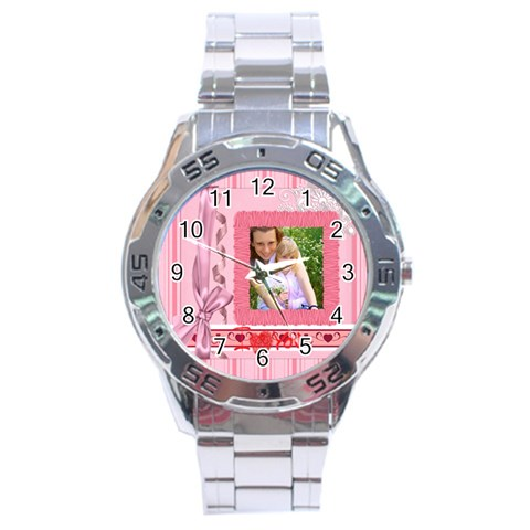 I Love You By Joely   Stainless Steel Analogue Watch   07whne0taagj   Www Artscow Com Front