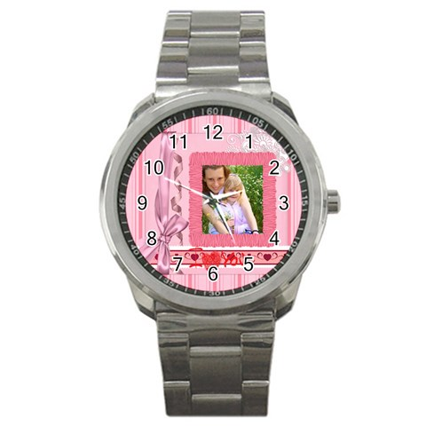 I Love You By Joely   Sport Metal Watch   2qgzm0gki64b   Www Artscow Com Front