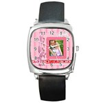 i love you - Square Metal Watch