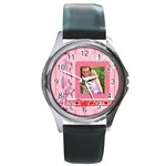 i love you - Round Metal Watch