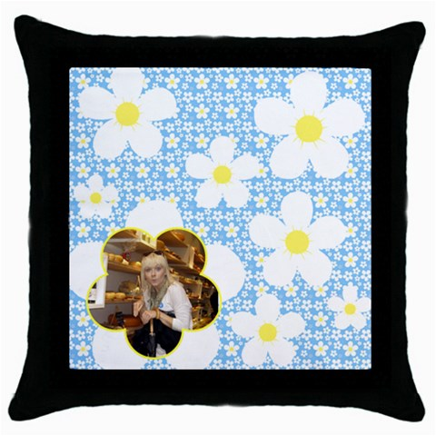 Sunny Days Throw Pillow By Deborah   Throw Pillow Case (black)   39r7b1ry2o47   Www Artscow Com Front