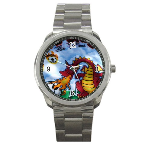 Clock Watch By Kevin   Sport Metal Watch   2ut7ej4llpgb   Www Artscow Com Front