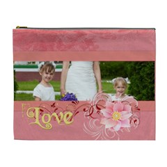 Love By Man   Cosmetic Bag (xl)   7gxlu4wmmeif   Www Artscow Com Front