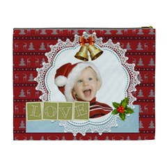 Love Of Xmas By Man   Cosmetic Bag (xl)   Xf83wrmngo00   Www Artscow Com Back