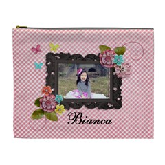 Xl Cosmetic Bag  Sweet Bianca By Jennyl   Cosmetic Bag (xl)   Erbqkiwzjruu   Www Artscow Com Front