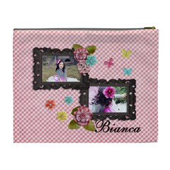 Xl Cosmetic Bag  Sweet Bianca By Jennyl   Cosmetic Bag (xl)   Erbqkiwzjruu   Www Artscow Com Back