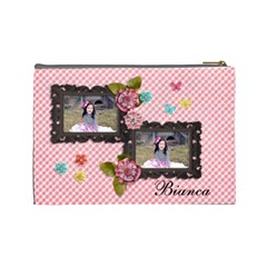 Large Cosmetic Bag  Sweet Bianca By Jennyl   Cosmetic Bag (large)   9mxnfcv423bq   Www Artscow Com Back