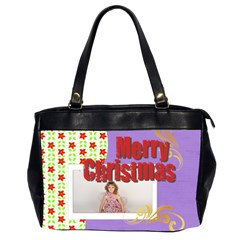 Merry Christmas By M Jan   Oversize Office Handbag (2 Sides)   9j9e8jgul9y9   Www Artscow Com Front