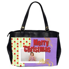 Merry Christmas By M Jan   Oversize Office Handbag (2 Sides)   9j9e8jgul9y9   Www Artscow Com Back