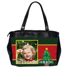 Merry Christmas By M Jan   Oversize Office Handbag (2 Sides)   6ot7tj1zjhjn   Www Artscow Com Back