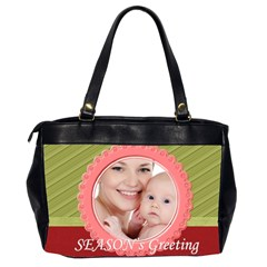 Xmas By M Jan   Oversize Office Handbag (2 Sides)   E61u431kknvv   Www Artscow Com Back