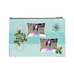 (l) Cosmetic Bag: Swirls Delight By Jennyl   Cosmetic Bag (large)   B6qeojsp0bpc   Www Artscow Com Back