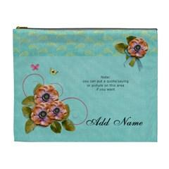 (xl) Cosmetic Bag  Flowers Bloom By Jennyl   Cosmetic Bag (xl)   U57ojkvijxfr   Www Artscow Com Front