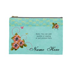 (l) Cosmetic Bag: Flowers Bloom By Jennyl   Cosmetic Bag (large)   Dwapix7wxx01   Www Artscow Com Front