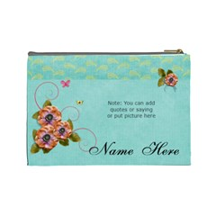 (l) Cosmetic Bag: Flowers Bloom By Jennyl   Cosmetic Bag (large)   Dwapix7wxx01   Www Artscow Com Back