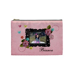 (m) Cosmetic Bag :  Sweet Bianca By Jennyl   Cosmetic Bag (medium)   I9mrhe3u8wdt   Www Artscow Com Front