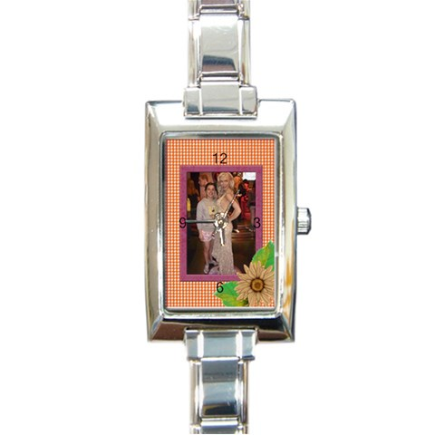 Elegant Italian Charm Watch By Deborah   Rectangle Italian Charm Watch   7ik1lnum3pht   Www Artscow Com Front