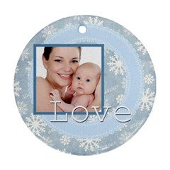 Xmas By M Jan   Round Ornament (two Sides)   Kkpwhg4d0cyg   Www Artscow Com Front