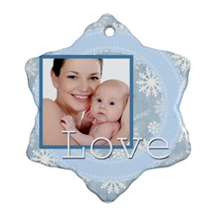 Xmas By M Jan   Snowflake Ornament (two Sides)   C3umj7ah6200   Www Artscow Com Front