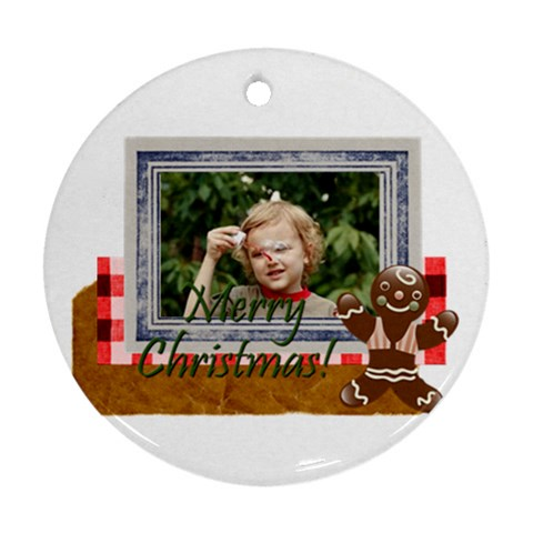 Xmas By M Jan   Ornament (round)   Attqqk03dp0l   Www Artscow Com Front