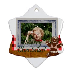 Xmas By M Jan   Snowflake Ornament (two Sides)   0l3wqluwvxq7   Www Artscow Com Back