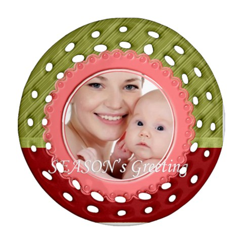 Xmas By M Jan   Ornament (round Filigree)   J0wulgyaxxu5   Www Artscow Com Front