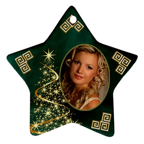My Sparkle Of Christmas Star Ornament By Deborah   Ornament (star)   Mibov1cx9ned   Www Artscow Com Front
