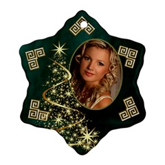 My Sparkle Snowflake Ornament (2 Sided) By Deborah   Snowflake Ornament (two Sides)   0yln59g6z86n   Www Artscow Com Back