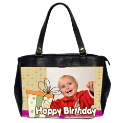 Happy Birthday By Man   Oversize Office Handbag (2 Sides)   93qcobquh2eb   Www Artscow Com Front