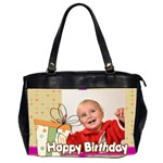 happy birthday - Oversize Office Handbag (2 Sides)