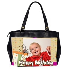 Happy Birthday By Man   Oversize Office Handbag (2 Sides)   93qcobquh2eb   Www Artscow Com Back
