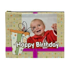 Happy Birthday By Man   Cosmetic Bag (xl)   9hy1sb0bkfcz   Www Artscow Com Front