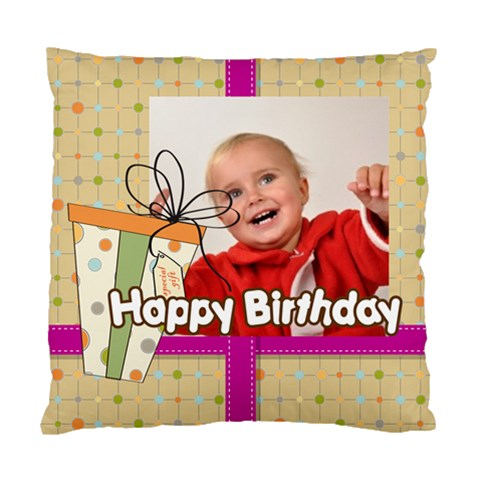 Happy Birthday By Man   Standard Cushion Case (one Side)   Qzcqz5eufpn0   Www Artscow Com Front