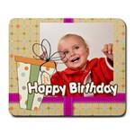 happy birthday - Large Mousepad
