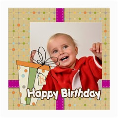 Happy Birthday By Man   Medium Glasses Cloth (2 Sides)   Kgbmp56ly3ol   Www Artscow Com Front