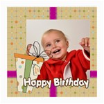 happy birthday - Medium Glasses Cloth (2 Sides)