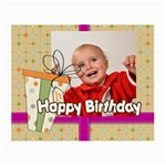 happy birthday - Small Glasses Cloth