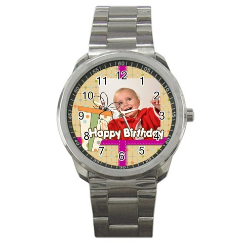 Happy Birthday By Man   Sport Metal Watch   2hn46plxui2m   Www Artscow Com Front