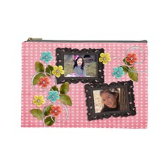 Cosmetic Bag (l) : Days Of Summer 2 By Jennyl   Cosmetic Bag (large)   Qki60nnhucn0   Www Artscow Com Front