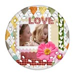 love - Round Filigree Ornament (Two Sides)