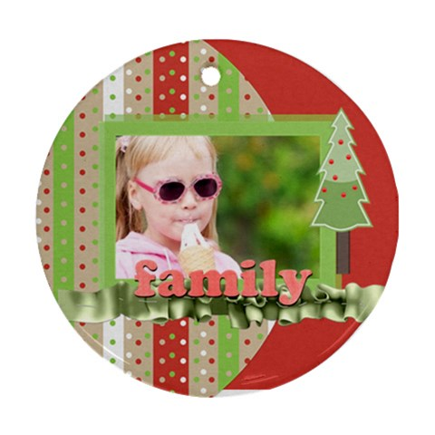 Xmas By Joely   Ornament (round)   F6w927nst2an   Www Artscow Com Front