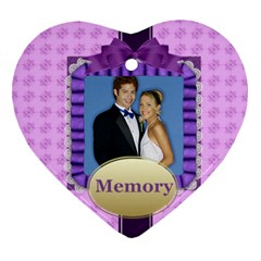 Memory By Joely   Heart Ornament (two Sides)   55tw84cwsqz2   Www Artscow Com Back