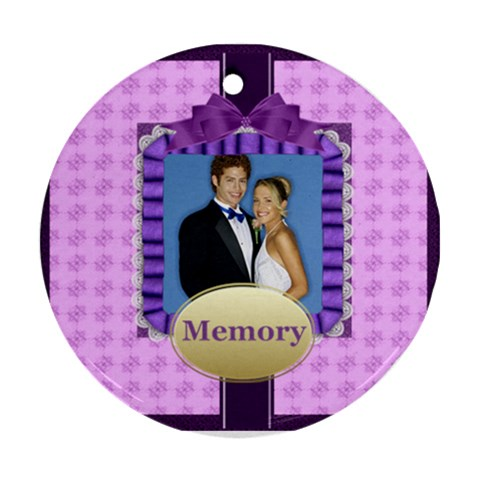 Memory By Joely   Ornament (round)   Asopwb3pc47l   Www Artscow Com Front