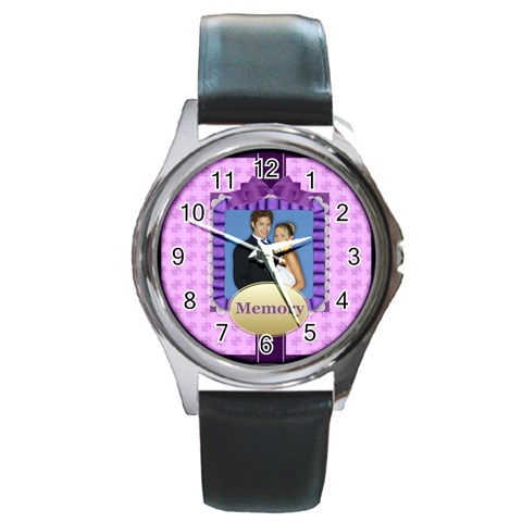 Memory By Joely   Round Metal Watch   0nytt3xflhnn   Www Artscow Com Front