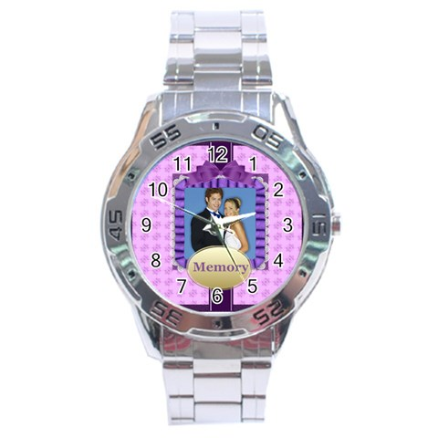 Memory By Joely   Stainless Steel Analogue Watch   Tj2slrp309bp   Www Artscow Com Front